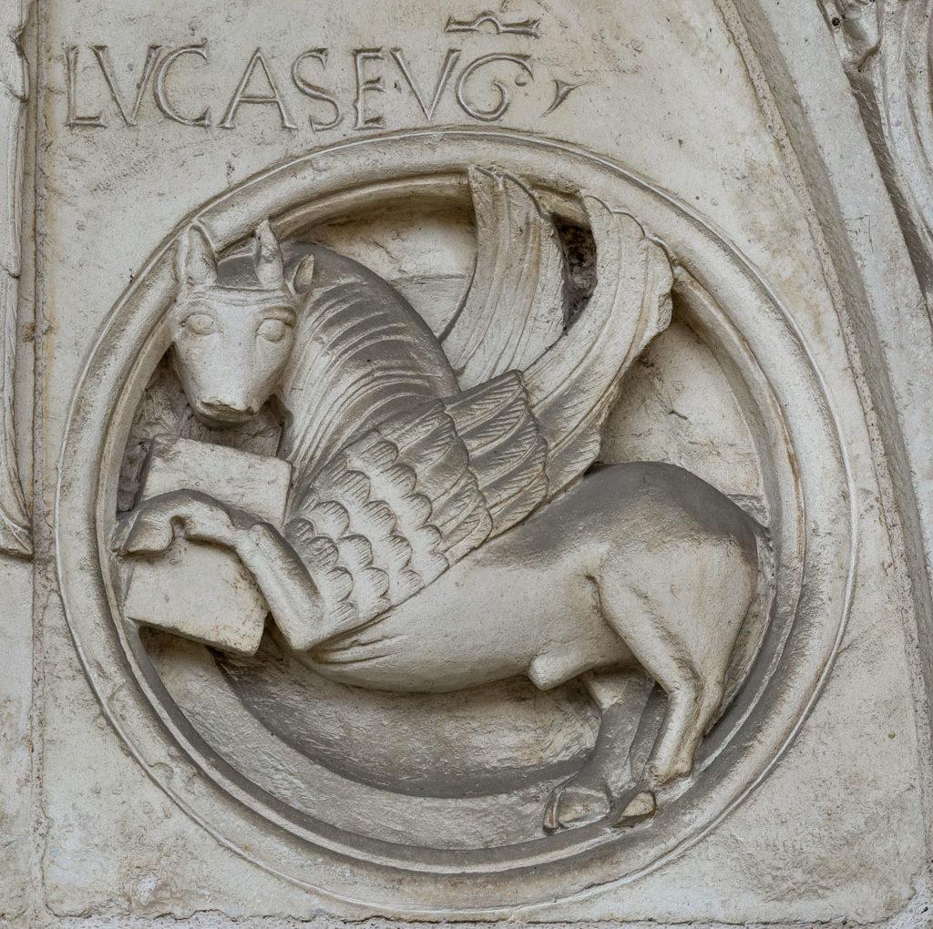 <span>Gigapixel ART</span> <br> La lunetta del portale dell'Abbazia di Nonantola