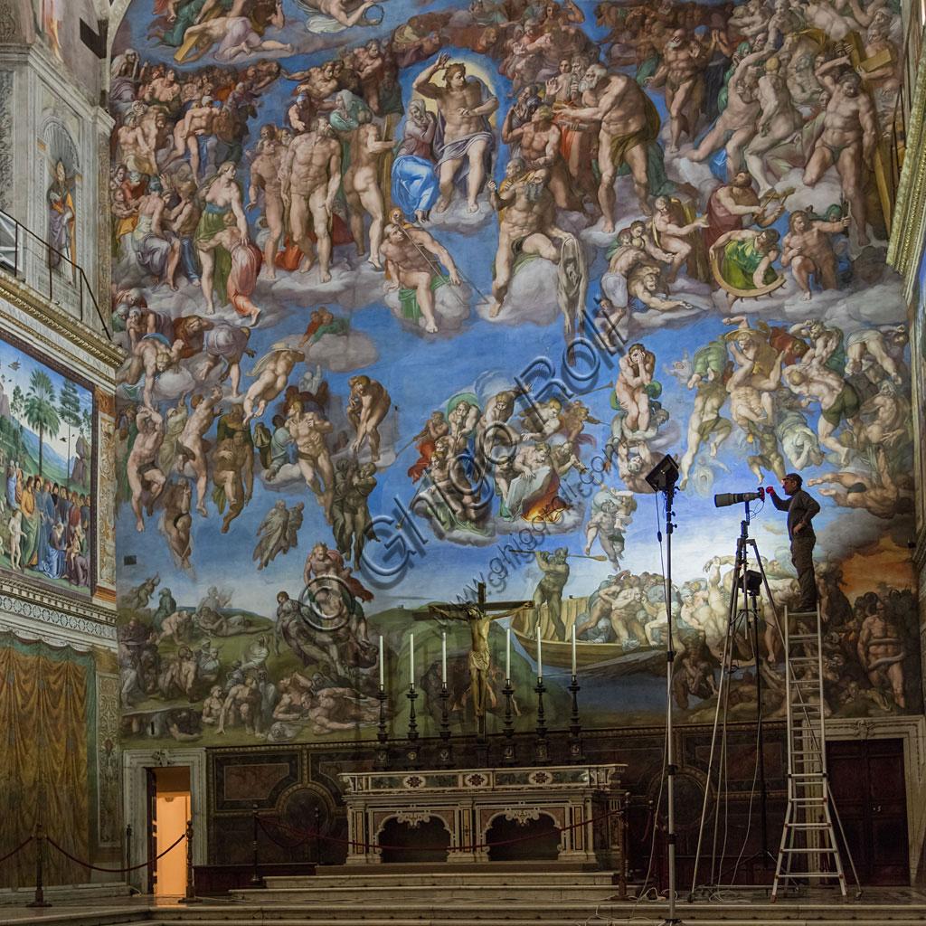 Cappella Sistina: ripresa in scala 1:1 gigapixel di tutti gli affreschi.