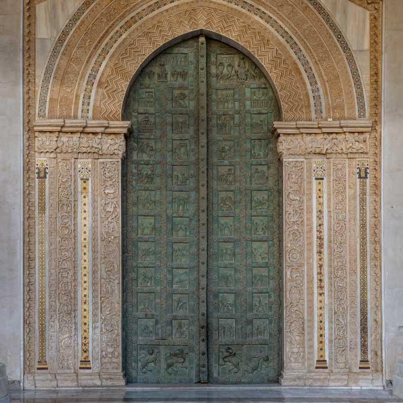 Duomo di Monreale: la porta bronzea di Bonanno Pisano (1185-1186)