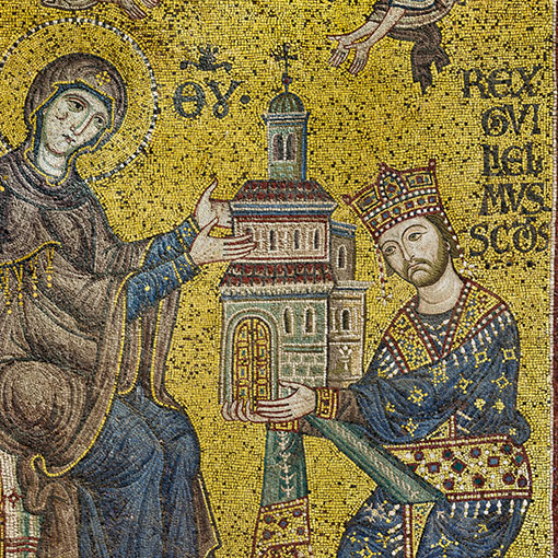 Emperor William II offers the Cathedral of Monreale to the Virgin Mary