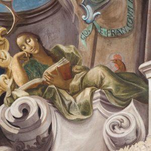 """Sala dei Cardinali: Pellegrino Spaggiari e Antonio Consetti """"Figure allegoriche"""","""