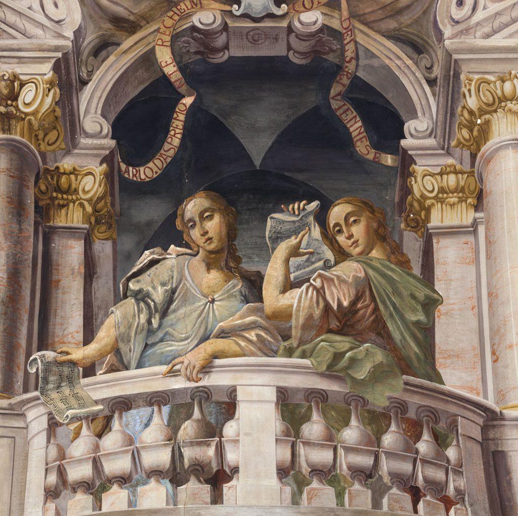 <span>Gigapixel art</span> <br>Sala Cardinali: Allegorie della Musica e della Matematica