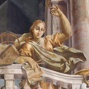 """Sala dei Cardinali: Pellegrino Spaggiari e Antonio Consetti, """"Allegoria di Architettura e Astronomia"""""""