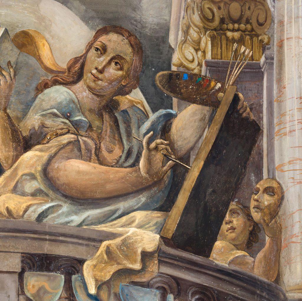 "<span>Gigapixel art</span> <br>Collegio San Carlo: baroque allegories of ""Poetry and Painting"""