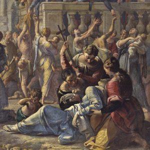"""Chiesa di S. Carlo: Sigismondo Caula, """"San Carlo comunica gli appestati"""""""