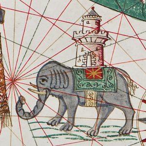 Torino, Biblioteca Reale: Jacopo Russo, portolano del Mediterraneo, pergamena, 1565.