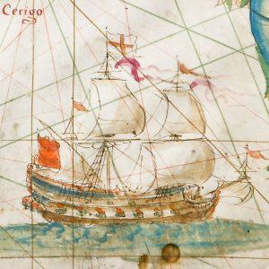 Torino, Biblioteca Reale: Jean François Roussin, carta nautica dell'Egeo, 1673