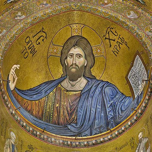 <span>Gigapixel art</span> <br>Monreale: Il Cristo Pantocrator
