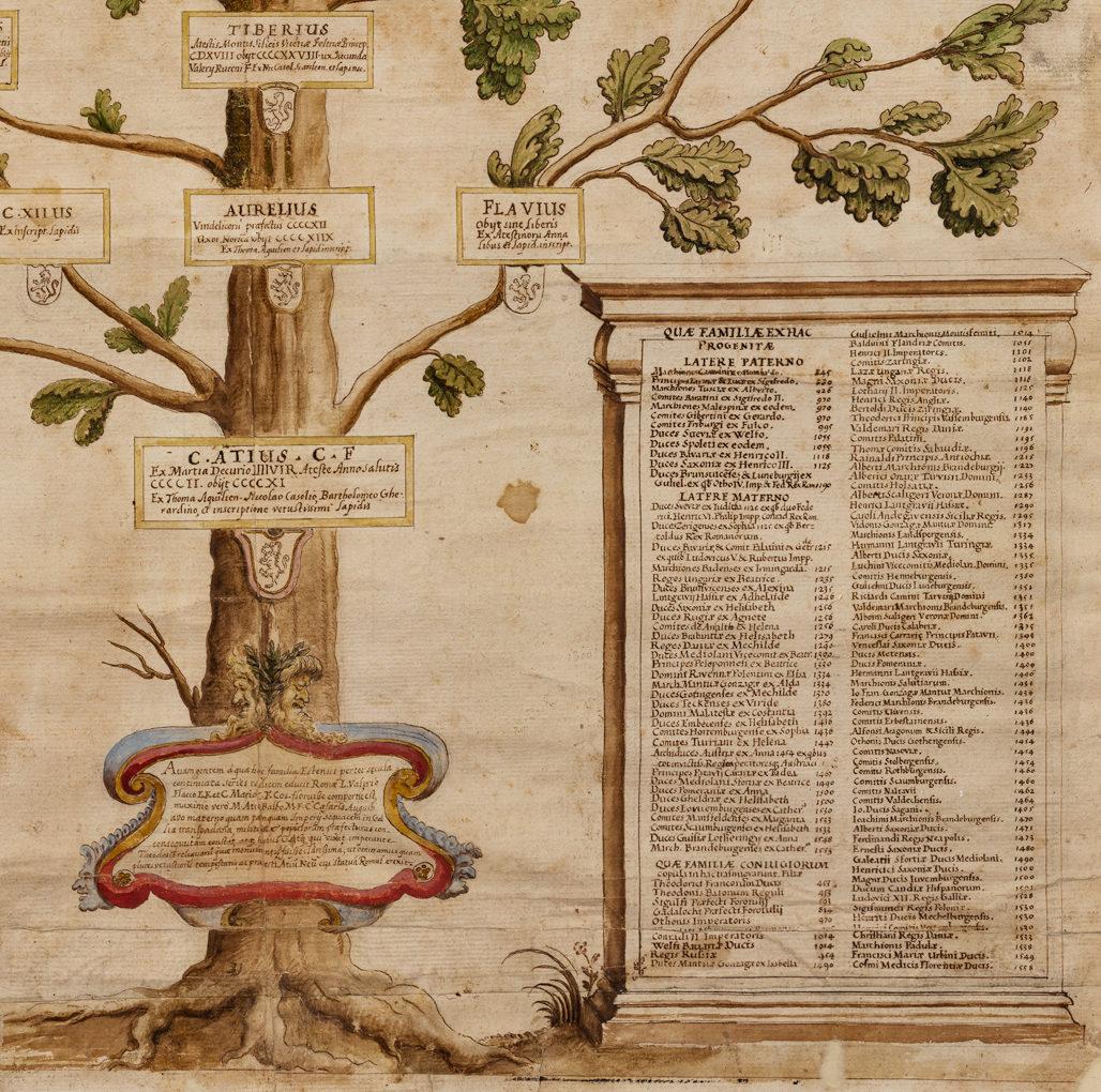 "<span>Gigapixel ART</span> <br> ""Albero genealogico Estense"""